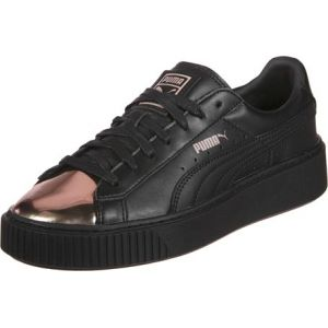 Image de Puma Basket Platform Metallic, Sneakers Basses Femme, Noir (Black-Rose Gold), 41 EU