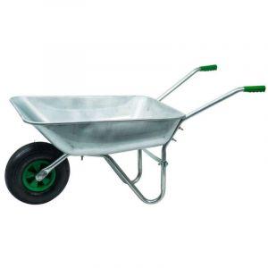 Werkapro Brouette en acier galvanisé avec roue gonflée