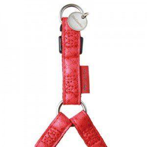 Zolux Harnais Mac Leather en cuir Rouge
