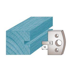 Diamwood Platinum Jeu de 2 fers profilés Ht. 40 x 4 mm rainure 6 mm M16 pour porte-outils de toupie