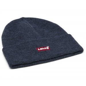 Levi's Footwear and Accessories Red Batwing Embroidered Slouchy Beanie Bonnet, Bleu (Navy Blue 17), One Size Homme