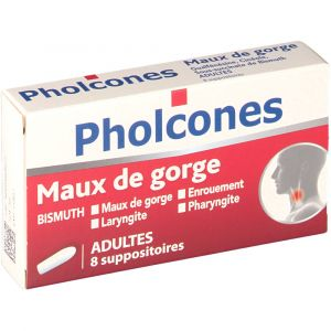 Cooper Pholcones Maux de gorge Adulte - 8 Suppositoires