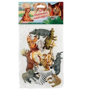 Kim'play Cofalu Figurine Animal - 12x Animaux Sauvages
