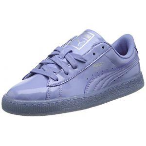 Puma Basket Patent Iced Glitter Jr, Sneakers Basses Mixte Enfant, Bleu (Lavendar Lustre-Lavendar Lustre 02), 38.5 EU