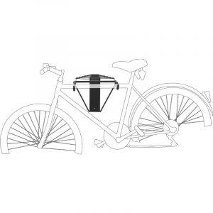 Relaxdays Porte-vélo mural pliable crochet Charge à 50 Kg Range-vélo garage cave 2 vélos, noir - 4052025176990
