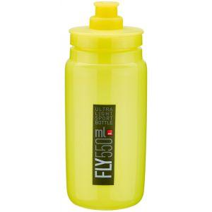 Elite Fly Bidon 550ml, yellow/black logo Bidons