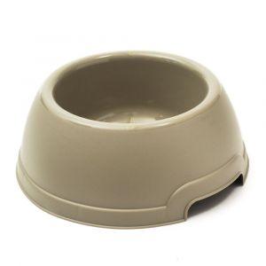 Zamibo Gamelle Ronde pour Chien en Plastique 1,3 litre 25 x 9,5 cm - Taupe