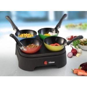 Tristar BP-2988 - Set de 4 mini woks + crêpes