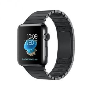 Apple Watch 38 mm séries 2 - Montre connectée Boîtier Acier avec Bracelet à maillons