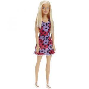 Mattel Barbie Chic blonde robe fleurie rose et mauve