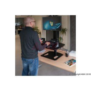 MCAD Colonne hauteur ajustable ecran 13-32 + clavier/souris