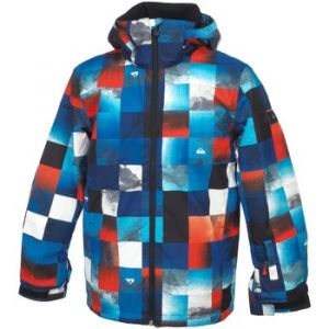 Quiksilver Mission Veste Homme, Mandarin Red/Pattern 1, FR : 2XL (Taille Fabricant : XXL)