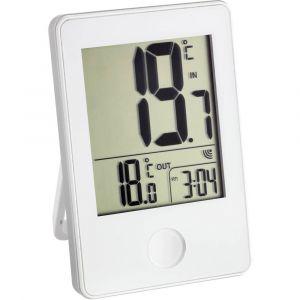 TFA Dostmann Thermomètre sans fil avec horloge blanc TFA 30-3051-02