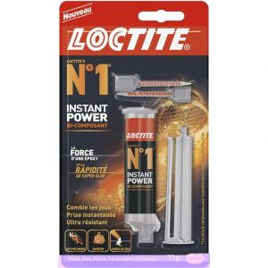 Loctite Colle seringue époxy Instant power n°1, 11 g