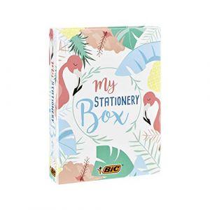Bic My Stationery Box - 28 Produits d'Ecriture, 10 Feutres/6 Stylos-Bille/4 Surligneurs/1 Ruban Correcteur/5 Marqueurs Permanents, 2