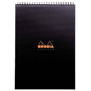 Rhodia 19920C - Notepad Rhodiactive A4 21 x 29,7 cm 160 pages - petits carreaux