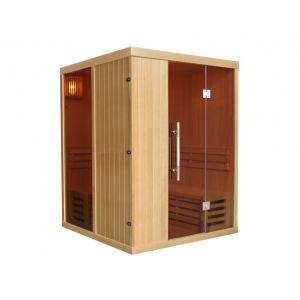 Vogue sauna Sauna traditionnel Finlandais 3/4 places MARIBO - 150x150x200 - vitres teintées