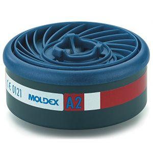 Moldex Set de 8 filtres à gaz EasyLock avec Indice de protection: A2 920001