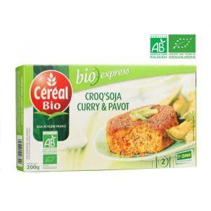 Céréal bio Croq' Soja au curry et pavot