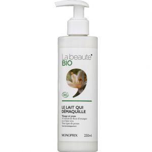 Monoprix Le lait qui démaquille visage et yeux - La Beauté Bio - Le flacon de 250 ml