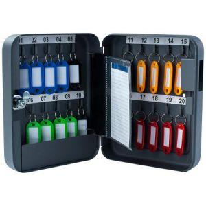 Pavo 8027033 - Armoire à clés pour 20 clés, coloris gris foncé