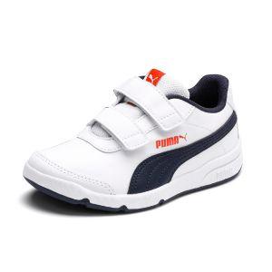 Puma Chaussures de Sport pour Garçon et Fille 192522 STEPFLEEX 07 White-Peacoat Taille 28