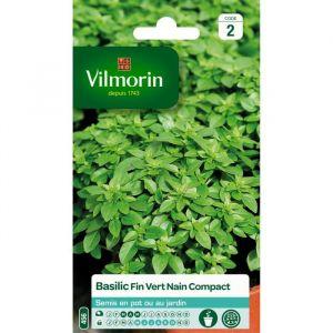 Vilmorin Basilic fin, vert et compact - Sachet graines