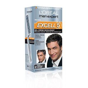 L'Oréal Men Expert Excell 5 - Gel-crème recolorant brun profond naturel