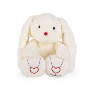 Kaloo Peluche lapin Rouge crème large, 38 cm blanc