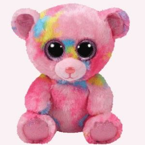 Ty Peluche Franky l'Ours Multicolore Beanie Boo's Small 15 cm