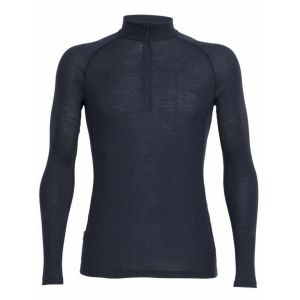 Icebreaker Mens Everyday LS Half Zip sous Vêtement Thermique Homme, Stealth, FR : XL (Taille Fabricant : XL)