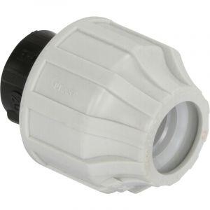 Somatherm Raccord plastique bouchon pour Tube PE ou PEHD Ø20