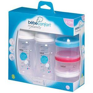 Bébé Confort 2 biberons Maternity col large en polypropylène avec doseur de lait 270 ml