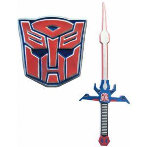 Kit épée et bouclier Optimus Prime - Transformers 5 Taille Unique