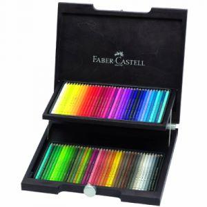 Faber-Castell Boîte de 72 crayons de couleur Polychromos en bois teinté wengé.
