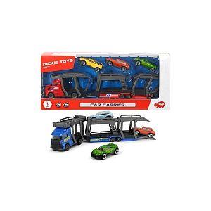 Dickie Toys Camion 28 cm - Transporteur de voitures (Modèles Aléatoire)