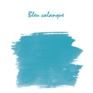 """Herbin 13014T - Encre traditionnelle à stylo en flacon """"D"""" 30ml, couleur bleu calanque"""
