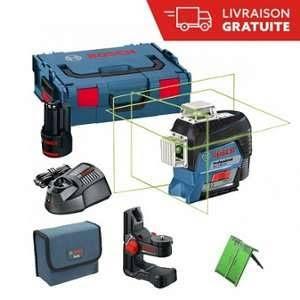 Bosch Laser lignes 3 plans Vert GLL 3-80 Connecté CG+ BM 1+ L-Boxx