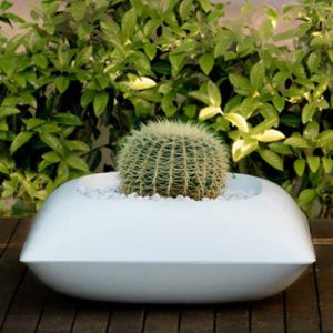 Image de Vondom Pillow Macetero Pot Blanc Mat