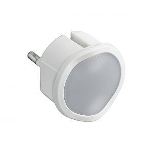 Legrand Veilleuse lampe torche avec batterie - Fiche 2P - 10A - Blanc