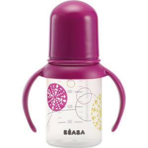 Beaba 911485 - Biberon Gipsy Trendy avec poignées 140 ml