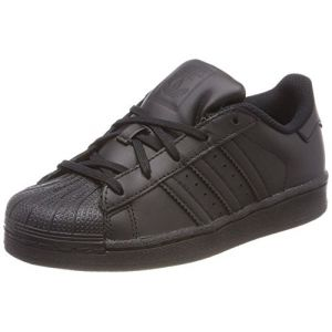 Adidas Superstar C, Chaussures de Basketball Mixte Enfant, Noir (Core Black/Core Black/Core Black Ba8381), 34 EU