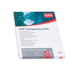 Nobo 33634668 - Boîte de 50 transparents pour imprimante jet d'encre, format A4, 100µ