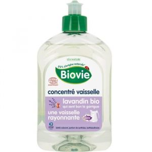 Biovie Concentré Vaisselle à l'Huile Essentielle de Lavandin Bio 500 ml - Lot de 2