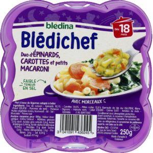 Blédina Bledichef 250g duo d'epinards, carottes et petits macaroni dès 18 mois