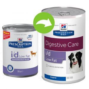Hill's Prescription Diet I/D Chien Low Fat en boîte 360g