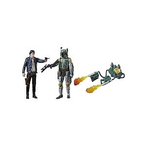 Hasbro Star Wars Episode VIII - Coffret 2 figurines 10 cm - Han Solo et Boba Fett (C1244)