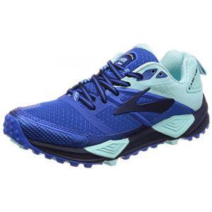 Brooks Cascadia 12, Chaussures de Trail Femme, Bleu (Navy/Blue/Mint 1b496), 37.5 EU