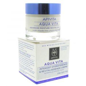 Apivita Aqua Vita - Crème hydra intensive pour peaux normales à sèches