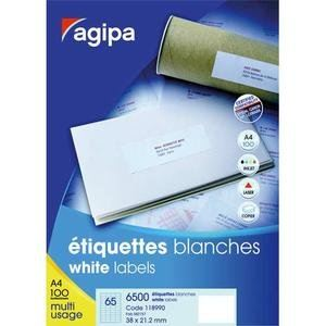 Agipa 118987 - Boîte de 800 étiquettes adresses multi-usages (6,77 x 9,91 cm)